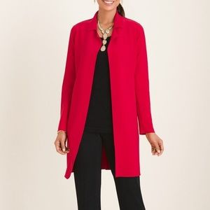 NWT Chico's red double faced jacket